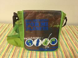 Tupperware Childrenand039s Insulated Lunch Bag Brown W/ Green And Blue New