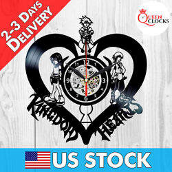 ✅ Disney Kingdom Hearts Sign Sora Vinyl Record Wall Clock Kids Decor Best Gifts