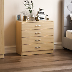 Riano Chest Of Drawers Pine 4 Drawer Metal Handles Runners Bedroom Furniture