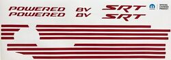 Powered By Srt Engine Cover Decals Charger And Challenger Scat Pack