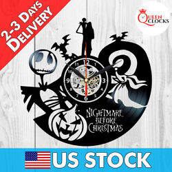 The Nightmare Before Christmas Jack Disney Vinyl Record Wall Clock Decor Gifts