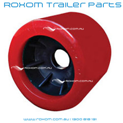 X8 Boat Trailer Wobble Rollers Pack. 4 Red Smooth Poly Wobble Roller Bundle
