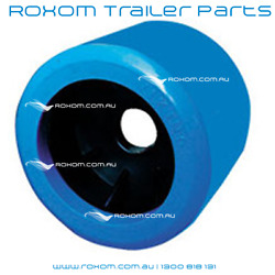 X12 Boat Trailer Wobble Rollers. 4 Blue Smooth 22mm Bore. Soft Wobble Roller