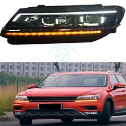 2pc Auto Fit For Tiguan 17 L HeadLights LED DRL Lens Xenon HeadLamp Assembly