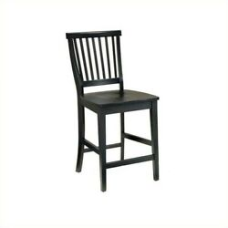 Home Styles Arts And Crafts 24.5 Bistro Stool In Ebony