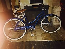 1950and039s Womens Antique Vintage Bike Blue Very Clean All Original Parts