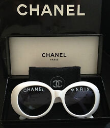 ONLY ONE! 100% RARE ICONIC CHANEL PARIS White Round Sunglasses Pharrell Williams