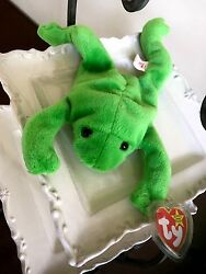 Extremely Rare Ty Beanie Baby Original Legs Frog Tag Errors- Dob, Numerical