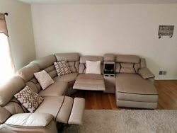 Reclining Leather Movie Theatre Style Couch From Bobs Furniture
