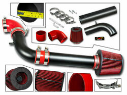 Cold Air Intake Kit Matt Black + Red Filter For 97-03 S10 /sonoma /hombre 2.2l
