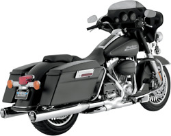 Vance And Hines 16773 Monster Round Slip-ons Chrome With Chrome Tips