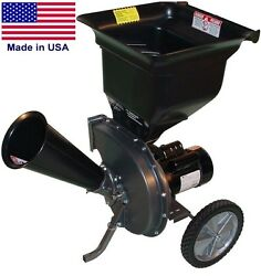 Electric Wood Chipper And Shredder - 1.5 Hp - 110/120 V - 13.4 Amps - 2 1/2 Dia