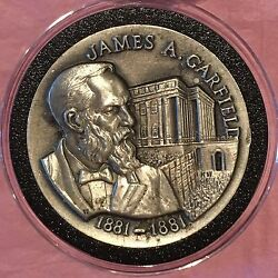 James Garfield High Relief 36 Grams Sterling Silver .925 Fine 92.5 Round Coin