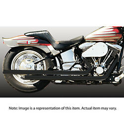 Hooker 27942-1DHKR Exhaust Pipes Rebel Black for Harley 84-07 Softail Short Stag