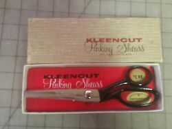 Vintage Deluxe Kleencut Pinking Shears 7½ Inch Overall W/ Original Box