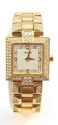 W199-Concord La Scala 18k Yellow Gold Diamond Watch