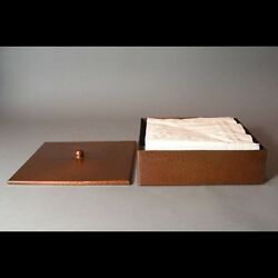 New Hand Hammered Roycroft-style Copper Napkin Box - Free Shipping