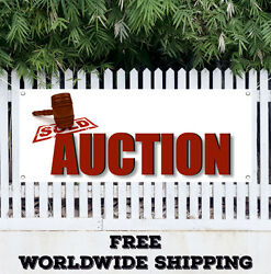 Auction Advertising Vinyl Banner Flag Sign Many Sizes Antique Jewelry Furniture