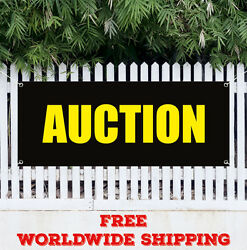 Banner Vinyl Auction Advertising Sign Flag Many Sizes Antique Jewelry Furniture
