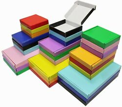 Blue Black Red Green Orange Yellow Pink Purple Mini A6 A5 A4 Large Letter Boxes