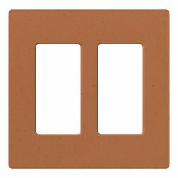 Lutron Claro 2 Gang Decora Durable Plastic Oversized Terracotta Wall Plate Cover