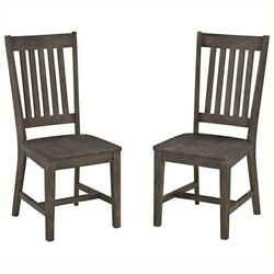 Home Styles Concrete Chic Dining Chair Pair In Brown