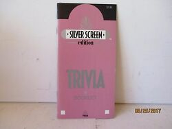 Golden Age Of Hollywood Trivia Booklet - 100 Qanda - Silver Screen - Free Shipping