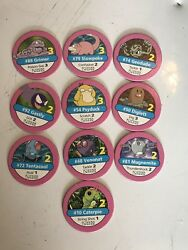 Pokemon Pogs Pink X10 - Caterpie And More