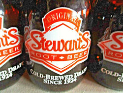 Eleven 2-sided 5 Original Stewart's Root Beer Numbered Mason Jar Glasses And Box