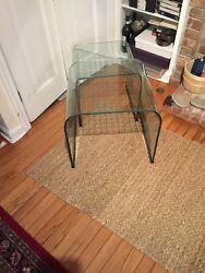 Pace Glass Checkerboard Nesting Tables. Original Owner. Need To Be Polished.