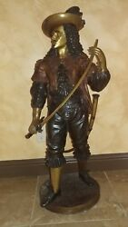 Large Beautiful Bronze Musketeer With Sword It Is A Masterpiece