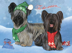 Skye Terrier Christmas Cards Set of 10 cards & 10 envelopes