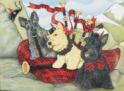 Scottish Terrier Scottie Dog Christmas Cards Set of 10 cards & 10 envelopes