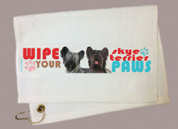 Skye Terrier Paw Wipe Towel