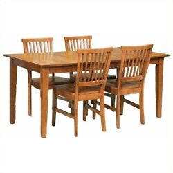 Home Styles Arts And Crafts 5 Piece Dining Set In Cottage Oak
