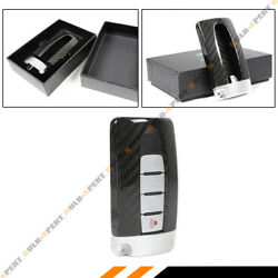 REAL CARBON FIBER GTR STYLE CASE COVER W SILVER BASE FOR INFINITI SMART KEY FOB