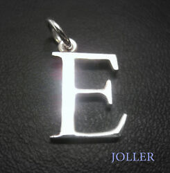 Any Silver Initial Letter Pendant Selectable Font Gift String By Joller Jewels