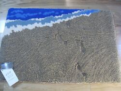 Hand Made New Zealand Wool Beach Themed Area Rug -