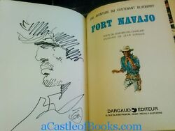 Jean Giraud And039moebiusand039 Signed W/sketch Fort Navajo. Une Aventure Jean-michel Ch
