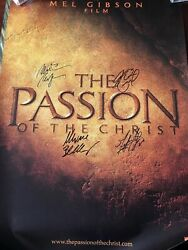 The Passion Of The Christ - Hand Signed - Mel Gibson - Jim Caviezel + 2