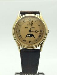 Concord Triple Day/date/month Moon Calendar 14k Gold Menand039s Watch