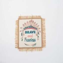 Native American Brave Fearless Sew On Embroidery Applique Patch Sew Iron Badge