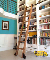 Quiet Glide Rolling Hook Library Ladder Kit With An 8-ft. Ladder, Qg.510-8