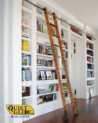 Quiet Glide Rolling Hook Library Ladder Kit With A 9-ft. Ladder Qg.510-9