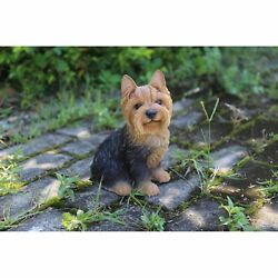 NEW Sitting Yorkshire Terrier Figurine - Life Like Figurine Statue Home  Garden