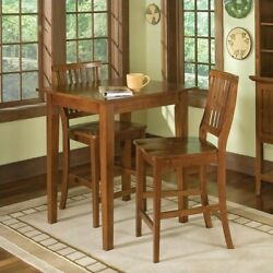 Home Styles Arts And Crafts 3 Piece Bistro Set In Cottage Oak