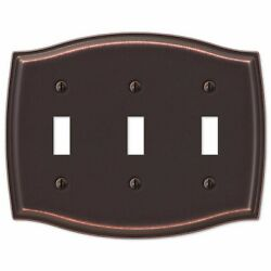 Electrical Switch Cover Sonoma 3-Toggle Aged Bronze Finish Rectangle Wall Plate