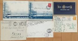 1940 Helsinki Summer Olympic 6 X Collection / Covers, Needle Pins
