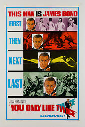Original You Only Live Twice Us 1 Sheet, Bond, Film/movie Poster, On Linen