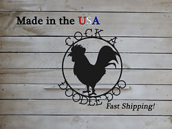 Cocka Doodle Doo Rooster, Country Decor, Sign, Kitchen Decor, Coop Sign -s1245
